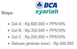 Biaya BCA Syariah